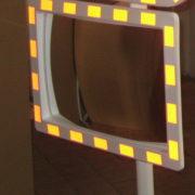 Дорожное прямоугольное зеркало рефлектор Мегапласт Кладно