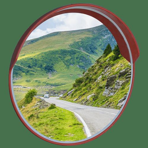 уличное универсальное дорожное зеркало с козырьком