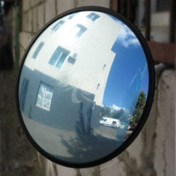 выпуклое обзорное зеркало в защитной пленке для помещения