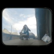 прямоугольное выпуклое зеркало для помещения в защитной пленке