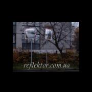 dorojnoe prymougolnoe zerkalo reflector T perekrestke