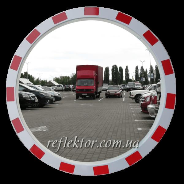 Дорожнє дзеркало зі світлоповертальною окантовкою MEGA 600