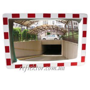 дорожное сферическое прямоугольное зеркало MEGA 400 * 600