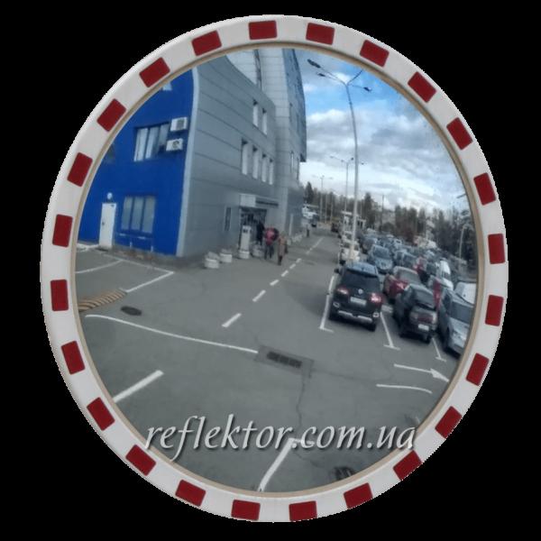 Кругле дорожнє дзеркало MEGA900 со світловідбиваючої окантовкою