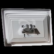 корпус прямоугольного дорожного зеркала с отражателем