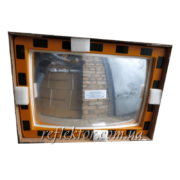 Прямоугольное индустриальное зеркало INDU в защитной пленке