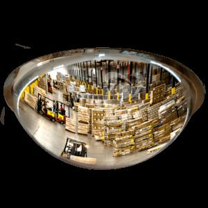 Купольное зеркало для склада.