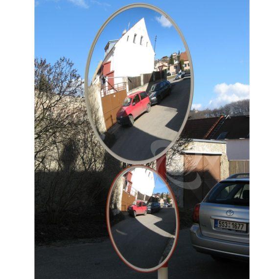 Сравнение дорожных зеркала без козырька 60 и 90см