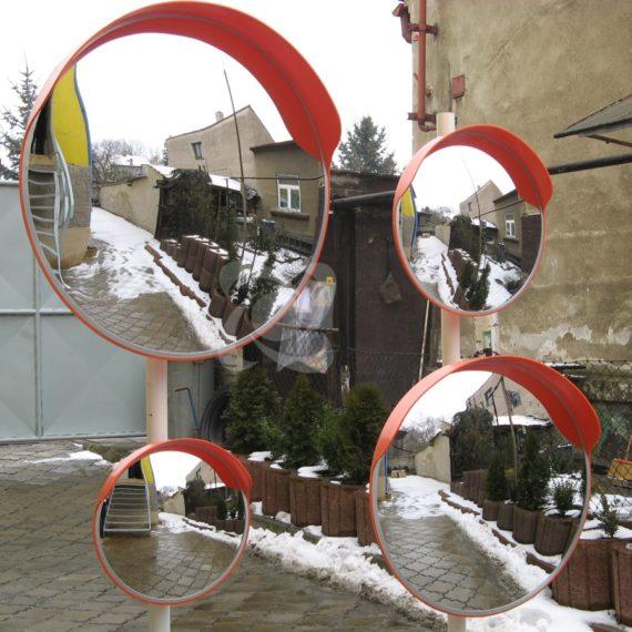 Дорожні дзеркала з козирком різних діаметрів: 450,600, 800,1000мм