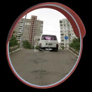 дорожное зеркало безопасности уни 800 с козырьком