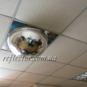 купольное зеркало амстронг в подвесном потолке