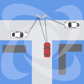 установка дорожных зеркал на т-образном перекрестке